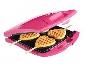 Heart Waffles on Sticks