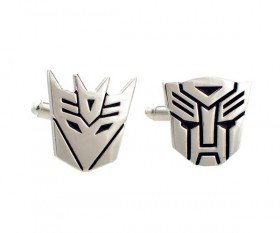 Silver Plated Transformer AUTOBOTS and DECEPTICON Cufflinks