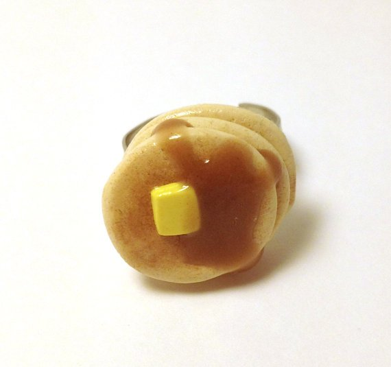 Cute Stack of Pancakes Adjustable Ring