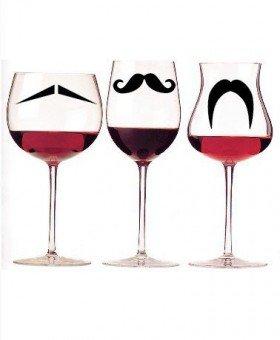 Mustache Party Glass Identifiers