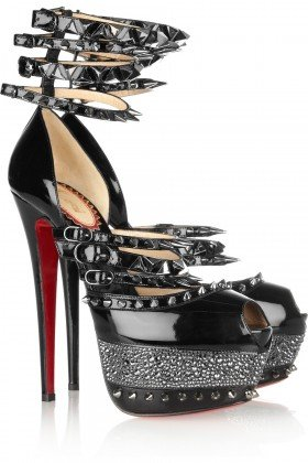 Christian Louboutin's 20th anniversary Isolde Spiked Patent-leather Sandals