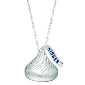 Sterling Silver Medium Flat Back Shaped Hershey's Kiss