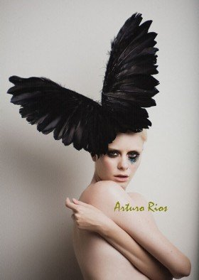 Black Couture Wings headpiece