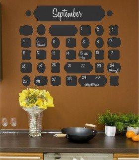 Vintage Chalkboard Calendar