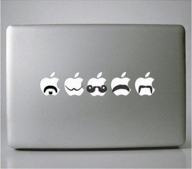 Mustache Set MacBook Decal