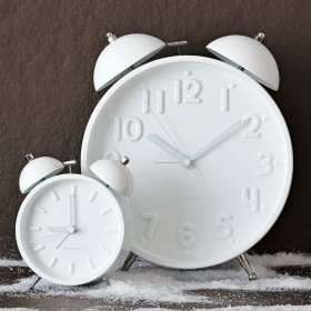 Ceramic White Alarm Clocks