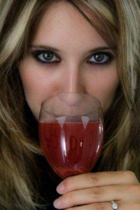 Eclipse Inspired Vampire Wine Glasses