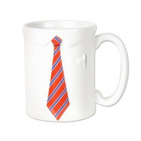 Necktie Mug Novelty white Shirt and red Neck Tie