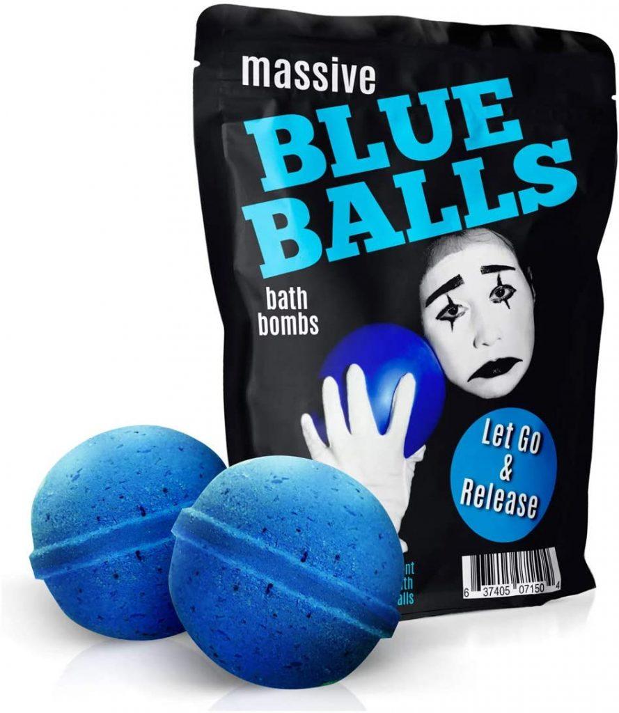 Massive blue ball bath bombs