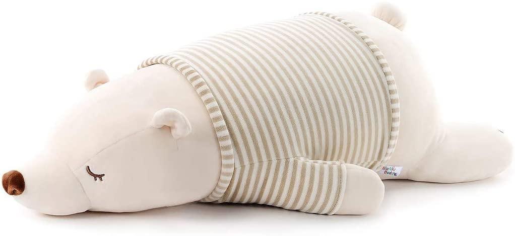 11.5 inch Super Soft Plush Polar Bear Stuffed Animal Toy Plush Pillow