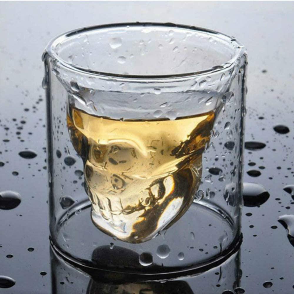 skull whiskey glass