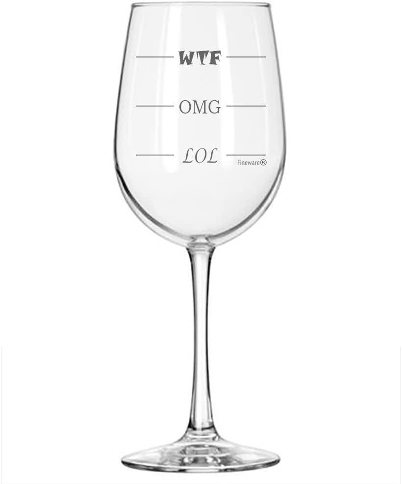 WTF Wine Glass