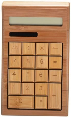 Bamboo Wooden Calculator