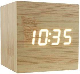 Cube Wooden Alarm Clock